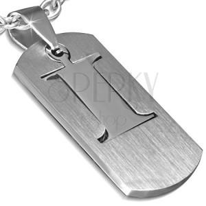 """Ocelový přívěsek - dvoudílná známka s písmenem """"I"""""""