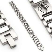 Náramek z chirurgické oceli ve stylu hodinek s pavoukem