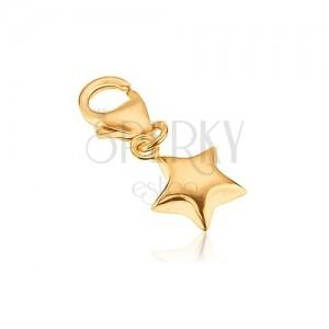 Přívěsek ze zlata 14K - pěticípá hvězdička, vypouklý povrch