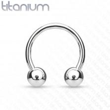 Titanový piercing podkova s kuličkami