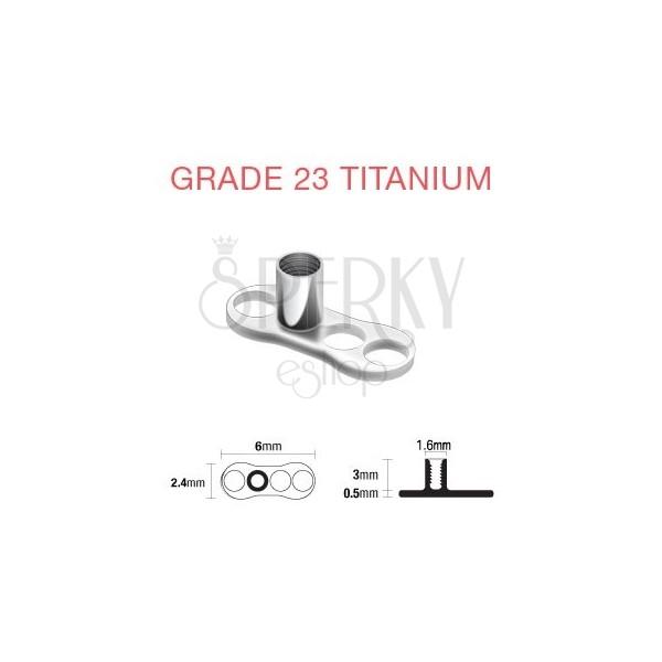 Podstavec pod piercing implantát z titanu 3 dírky