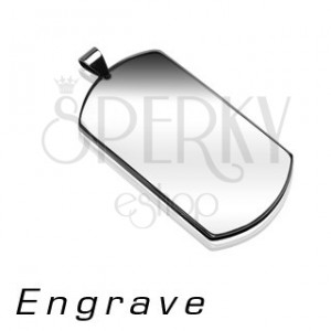 Přívěsek z chirurgické oceli - známka DOG TAG, stříbrná barva