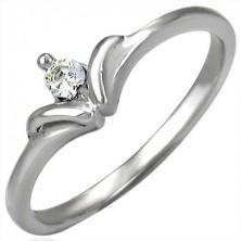 Zásnubní prsten se vzorem mašličkového kamínku