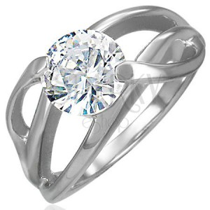 Zásnubní prsten s příčným úchytem