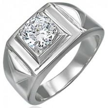 Mohutný prsten se zirkonem