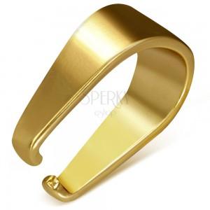 Zlatý náhradní háček z chirurgické oceli, 3 x 9 mm