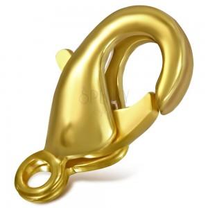 Karabinka matné zlaté barvy, 10 mm