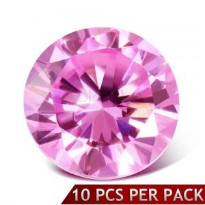 Okrouhlý růžový broušený kamínek, 3 mm