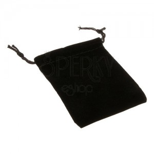 Obdélníkový sáček na dárky - černý samet