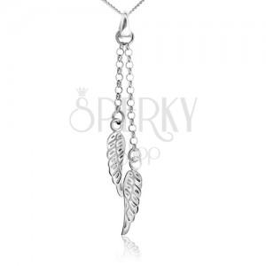 Náhrdelník ze stříbra 925, andělská křídla na řetízku