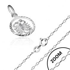 Náhrdelník - řetízek a přívěsek znamení ŠTÍR, stříbro 925 AA33.08
