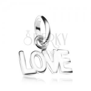 Přívěsek LOVE, ze stříbra 925