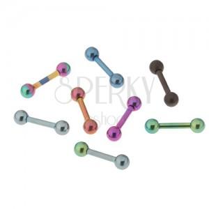 Titanový anodizovaný piercing do tragu, různé barvy, 3mm kulička