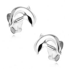 Náušnice ze stříbra 925, skákající delfín V04.29
