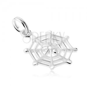 Stříbrný 925 přívěsek, pavučina a malý pavouček