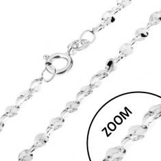 Řetízek ze stříbra 925 - vlnité články ve spirále, 1,5 mm