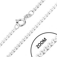 Řetízek ze stříbra 925 - esíčkovitý vzor, lesklý, 1 mm