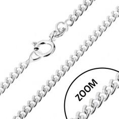 Řetízek ze zakroucených oválných oček, stříbro 925, 1,7 mm
