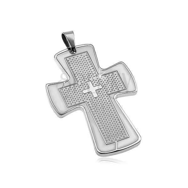 Přívěsek z chirurgické oceli - mohutný kříž