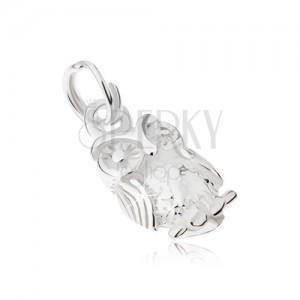 Gravírovaný přívěsek ze stříbra 925 - moudrá sova