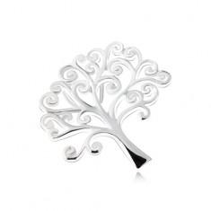 Lesklý přívěsek ve tvaru stromu života, stříbro 925 SP05.26
