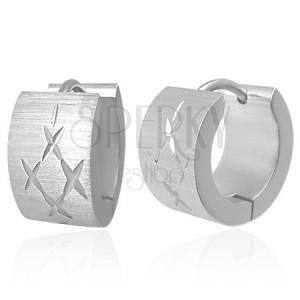 Náušnice z oceli vyřezávaný diamant
