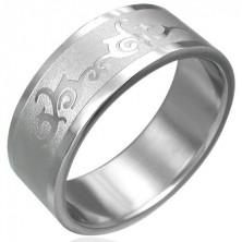 Prsten z chirurgické oceli s ornamentem