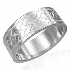 Prsten z chirurgické oceli - Keltský pletený vzor D13.13