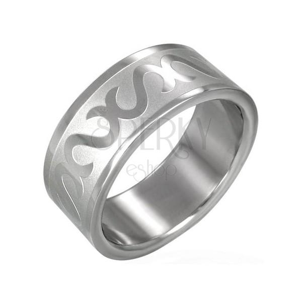 """Prsten z chirurgické oceli - symbol """"S"""""""