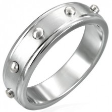 Prsten z chirurgické oceli - vypuklé válečky