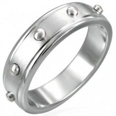Prsten z chirurgické oceli - vypuklé válečky D12.14
