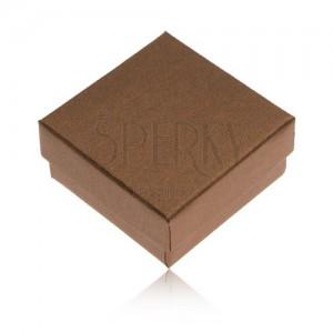 Dárková krabička na prsten a náušnice v bronzové barvě