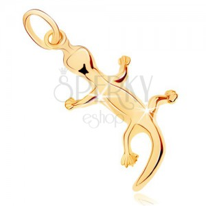 Zlatý přívěsek 375 - ještěrka se zahnutým ocáskem