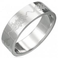 Prsten z chirurgické oceli s ornamenty D1.19