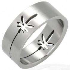 Ocelový prsten - lístky marihuany D5.19