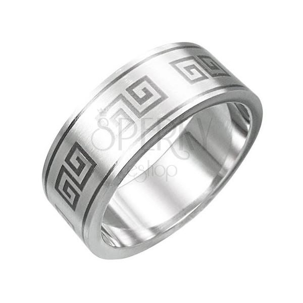 Prsten z chirurgické oceli - řecký motiv