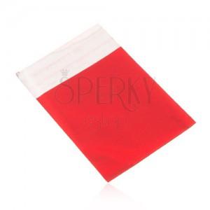 Celofánový sáček na dárek, matný povrch, červená barva