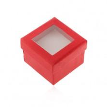 Papírová krabička na prsten nebo náušnice, průhledná vrchní část
