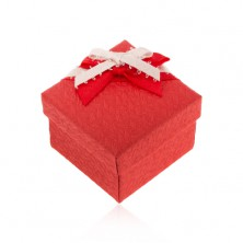 Krabička na prsten nebo náušnice, strukturovaný povrch, mašle