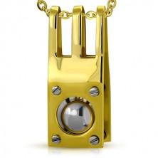Ocelový přívěsek s nýty a ocelovou kuličkou