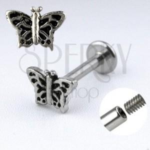 Piercing do brady Labret s motýlem