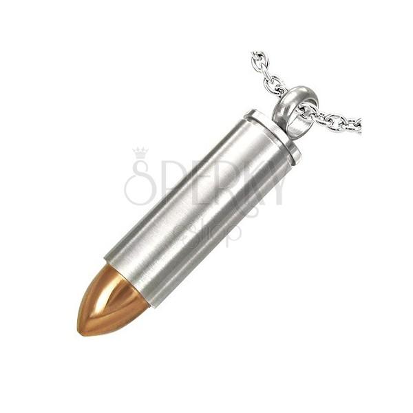 Přívěsek z oceli náboj se zlatým hrotem