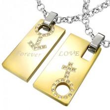 Přívěsek z oceli Forever Love - znak muže a ženy