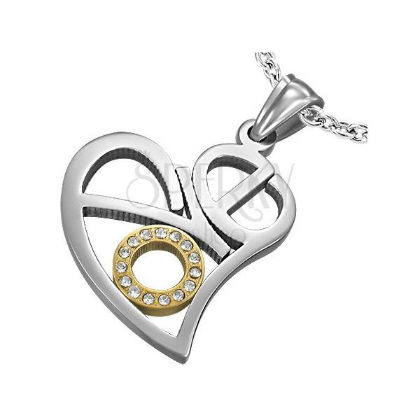 Přívěsek z oceli vyřezávané srdce