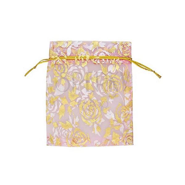 Dárkové balení - plátěný pytlíček, růžový