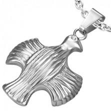 Přívěsek z oceli - orel s roztaženými křídly