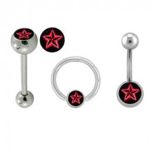 Sada piercingů - logo Červená hvězda