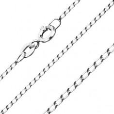 Stříbrný řetízek 925, hladká oválná očka, 1,3 mm