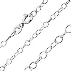 Řetízek ze stříbra 925 - úzká oválná očka, 1 mm