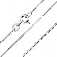 Řetízek z kolmých lesklých kostek, stříbro 925, 1,1 mm